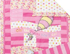 """the quilt for """"Oh the places you'll go""""  need to check out fabric...I really love this!"""
