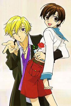 Tamaki and Haruhi (Ouran High School Host Club)