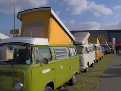 VW Bus. I want one of these. Matt and I would be so cute camping with this when the kids are out of the house. Lol