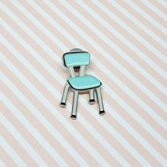 Enamel Pin Formica Chair  This pin is inspired by the formica chairs found in all the 70s kitchens. Perfect for all vintage lovers !