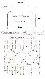 fille 12.. Crochet girl's dress pattern diagram