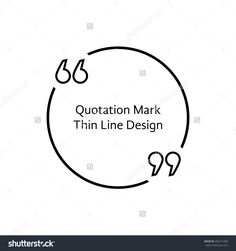 Thin Line Quotation Mark. Concept Of Citation, Info, Testimonials, Notice, Textbox, Mention, Memo, Info, Citing. Isolated On White Background. Flat Style Trend Modern Logo Design Vector Illustration - 296112383 : Shutterstock