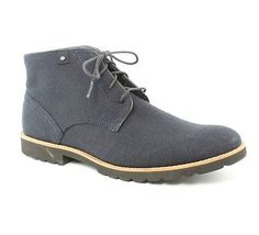 Rockport Ledge Hill Navy Blue Boots Mens size 9.5 M New $145