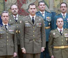 El Príncipe de Asturias recibe a los militares en El Pardo