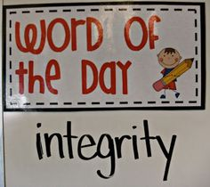 I LOVE how this teacher uses Word of the Day as a transition for her kids! There's an awesome video that explains this and has great Whole Brain Teaching strategies :)