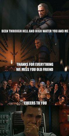 Finishing the Witcher trilogy be like - Humor Photo - Humor images - Finishing the Witcher trilogy be like The post Finishing the Witcher trilogy be like appeared first on Gag Dad. The Witcher Game, The Witcher Geralt, Witcher Art, Ciri, The Witcher Wild Hunt, Witcher Monsters, Witcher Wallpaper, Man Looking Up, Crying Man