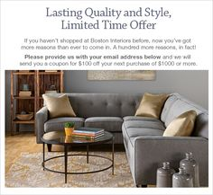 Wonderful Boston Interiors Online Coupon LR Sectional