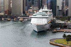 Voyager of the Seas docked in Sydney, Australia.