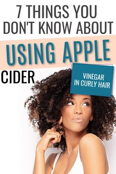 Do you know about the benefits of an apple cider vinegar rinse on your curly hair? Once you learn how to use it it works great on dandruff and for hair growth. Take a look at the 6 benefits here. #naturalhair #curlyhair #hairtips #haircare