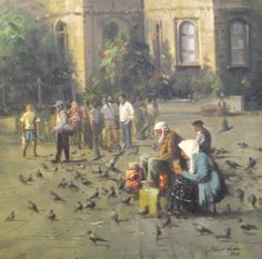 Istanbul, Artwork, Drawing, Oil Paintings, Middle East, Inspiration, Artists, Landscape Paintings, Art