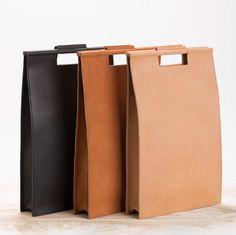 Schwarze Handtasche elegante Tasche minimalistische von YaelHerman