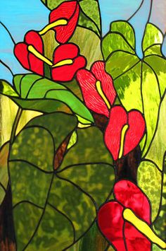 hawaii stained glass art - Google Search