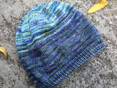 A simple toque that can be knit with one skein of fingering weight yarn or leftovers from other projects. Fade them together or work simple stripes.