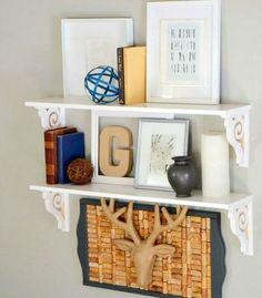s 14 amazing ways brackets made homemade shelving fun, shelving ideas, Swap plain brackets for scroll shaped ones