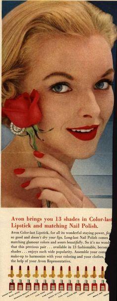 #vintage red nail polish ad by #cutex #socutex