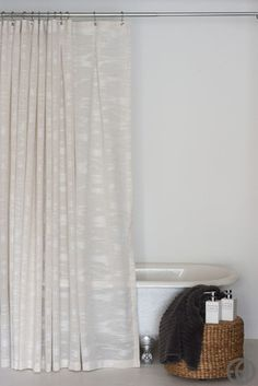 84 Linen Sheer Extra Long Shower Curtain