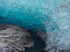 Ice of the Vatnajokull glacier in Iceland
