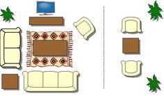 New Ideas For Living Room Furniture Arrangement Ideas Rectangle Interior Design Arranging Bedroom Furniture, Small Living Room Furniture, Living Room Furniture Arrangement, Arrange Furniture, Lounge Furniture, Den Furniture, Industrial Furniture, Kitchen Furniture, Luxury Furniture