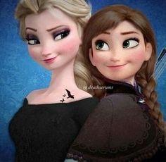 Anna et Elsa en mode divergente