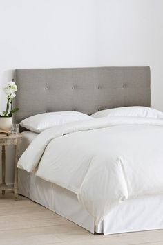 French Seam Slipcover Headboard - Linen Grey by Gold Coast Furniture on Furniture, Home Decor Bedroom, Home, Home Decorators Collection, Bedroom Furniture, Headboard, Bedroom, Skyline Furniture, Grey Headboard