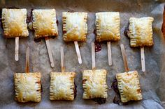 Bite-sized baked brie on sticks - cute!