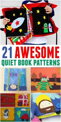 21 awesome quiet book patterns. Such a great collection of ideas!