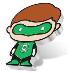 Chibi DC Comics Series Green Lantern 1oz silver coin proof