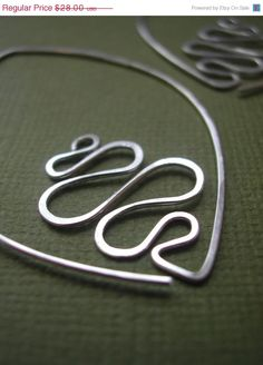 "Leafy Hoops River, sterling silver earrings by ""maryandjane"""