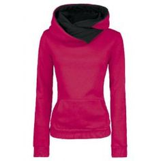 Casual Style Loose-Fitting Solid Color Long Sleeve Women's Hoodie love this hoodie