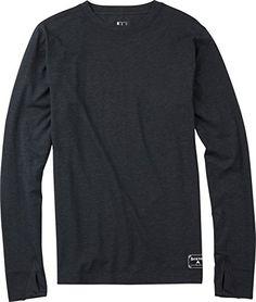 Camiseta para hombre de peso medio de lana Burton Tech Crew para hombre, invierno, hombre, color Negro - negro y marrón, tamaño L #regalo #arte #geek #camiseta