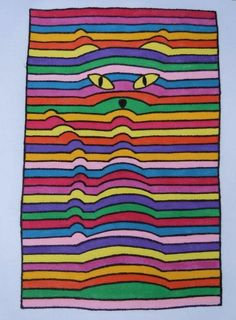 Students will love this! They can use their knowledge of color theory to make different color schemes on their op art hearts. See some tips on how to do this. 3d Hand Drawings, 3d Art Drawing, Art Drawings, Illusion Kunst, Illusion Art, Fall Art Projects, Classroom Art Projects, Bridget Riley Op Art, Op Art Lessons