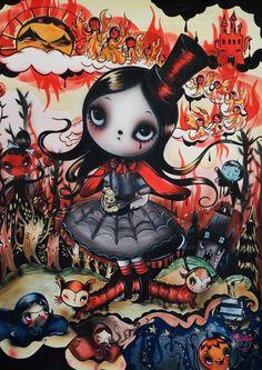 Misery (Tanya Thomspn, NZ) Cartoon Styles, Cartoon Art, Nz Art, Funky Art, Weird Art, Creative Art, Creative Ideas, Cute Art, Illustrators