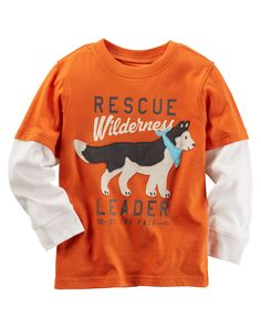Toddler Boy Long-Sleeve Layered-Look Rescue Wilderness Graphic Tee from Carters.com. Shop clothing & accessories from a trusted name in kids, toddlers, and baby clothes.