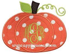 Pumpkin 6 Applique Design