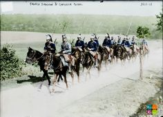 1914 - Joint Patrol Chasseurs à Cheval and Dragons.