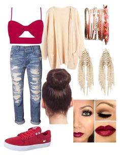 """""""Untitled #72"""" by canne98 ❤ liked on Polyvore featuring NSF, Wet Seal, Warehouse, Supra and 2b bebe"""
