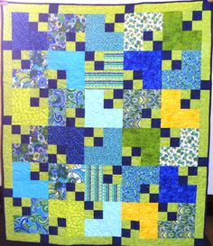 """Love this new pattern by Mary Ann Altendorf.  Check out """"Four Patch Shift"""" on our Passage Quilt Patterns board."""