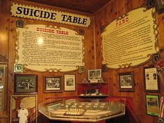 Virginia City Nevada  The Suicide Table at Delta Saloon. Went into the saloon and looked at the ''Suicide Table'' chills.