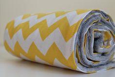 Riley Blake Chevron & Minky Baby Blanket. $32.00, via Etsy.