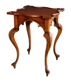 A Graceful English George II Style Carved Mahogany Side Tabl.- A Graceful English George II Style Carved Mahogany Side Table A Graceful English George II Style Carved Mahogany Side Table at - Classic Furniture, Furniture Styles, Unique Furniture, Wood Furniture, Side Tables For Sale, Antique Dining Rooms, Woodworking Furniture, Vintage Table, Wooden Doors