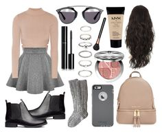 """""""♥♥♥♥♥"""" by patricia-manso ❤ liked on Polyvore featuring Jonathan Simkhai, H&M, MICHAEL Michael Kors, MAC Cosmetics, Christian Dior, OtterBox, Forever 21, Chanel and NYX"""