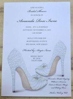 BRIDAL SHOWER INVITATIONS Shoe Theme Bridal Shower - Bridal Shower Invites Personalized. $1.95, via Etsy.