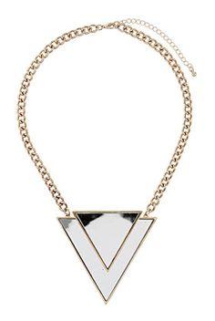 Mirrored Triangle Collar