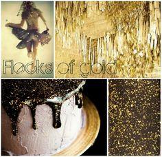 Flecks of Gold, True Event Design Inspiration Board (www.trueevent.com)
