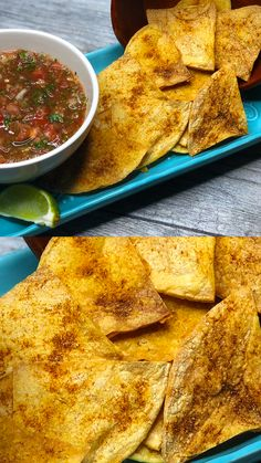 Homemade baked tortilla chips recipe that is healthy and delicious. These gluten free tortilla chips are made from corn tortillas and baked to perfection with a hint of lime and seasonings. Check out the recipe! Healthy Tortilla Chips, Flour Tortilla Chips, Gluten Free Tortilla Chips, Gluten Free Chips, Corn Tortilla Recipes, Tortilla Bake, Homemade Tortilla Chips Baked, Chip Seasoning, Homemade Flour Tortillas