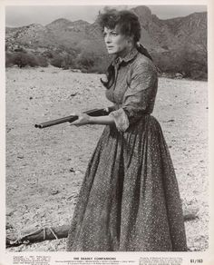Maureen O'Hara in The Deadly Companions, 1961, the first movie directed by Sam Peckinpah.