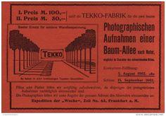 Original-Werbung/Inserat/ Anzeige 1902  : TEKKO TAPETEN/PHOTO-WETTBEWERB - ca. 190 x 130 mm