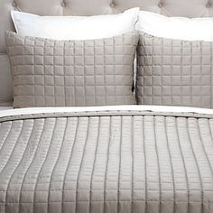 Our distinctly comfortable West Street Quilted Coverlet Set.