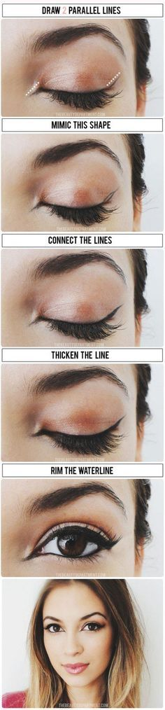 Cat Eye - 12 Different Eyeliner Tutorials You'll Be Thankful For   Makeup Tips & Tricks at http://makeuptutorials.com/12-different-eyeliner-tutorials-youll-thankful/
