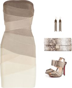 Herve Leger, the shoes, the bag
